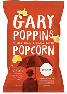 Gary Poppins Popcorn - Gourmet Flavored Popped Popcorn - 4 Pack Sriracha (4.4oz)