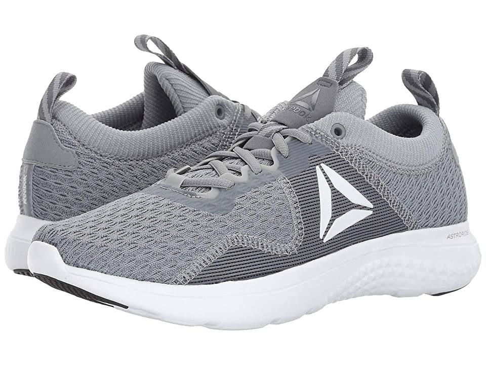 2e57c6c58b6 Reebok Astroride Run Fire MTM (Flint Grey Alloy White Silver  Metallic Pewter Black) Men s Running Shoes