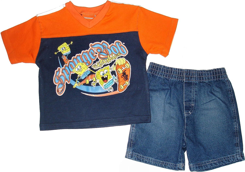Spongebob SKATEPANTS ~Boys 2PC Denim Short Set~ SZ 6