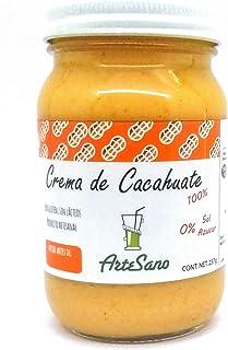 Crema de Cacahuate 100 % natural artesanal sin sal azúcar o