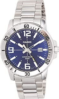 Casio Watch For Men Blue Dial Stainless Steel Band - MTP-VD01D-2BVUDF