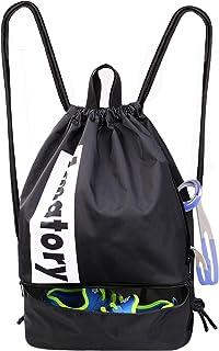 Drawstring Backpack String Bag Gym Sack Sackpack Gymsack Draw Swimming Swim Wrestling Athletic Sports Gymnastics Snorkel M...
