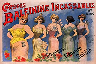 Corsets Baleinine Incassables - Vintage French Advertising Poster (24 x 36)