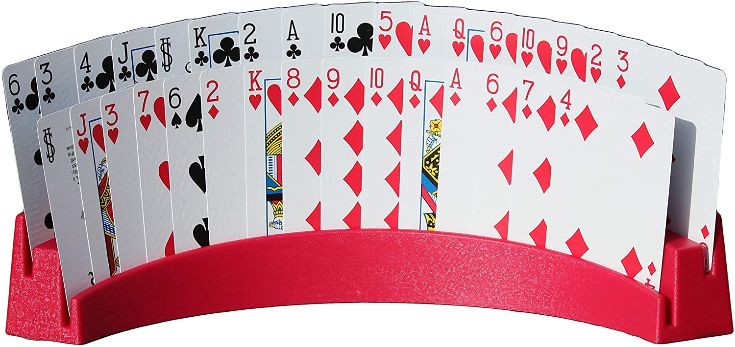 Set of 2 - Holds Up to 32 Playing Cards Easily 12 1//2 x 4 1//2 x 2 1//4 Twin Tier Premier Playing Card Holder Stack for Storage Made in The USA
