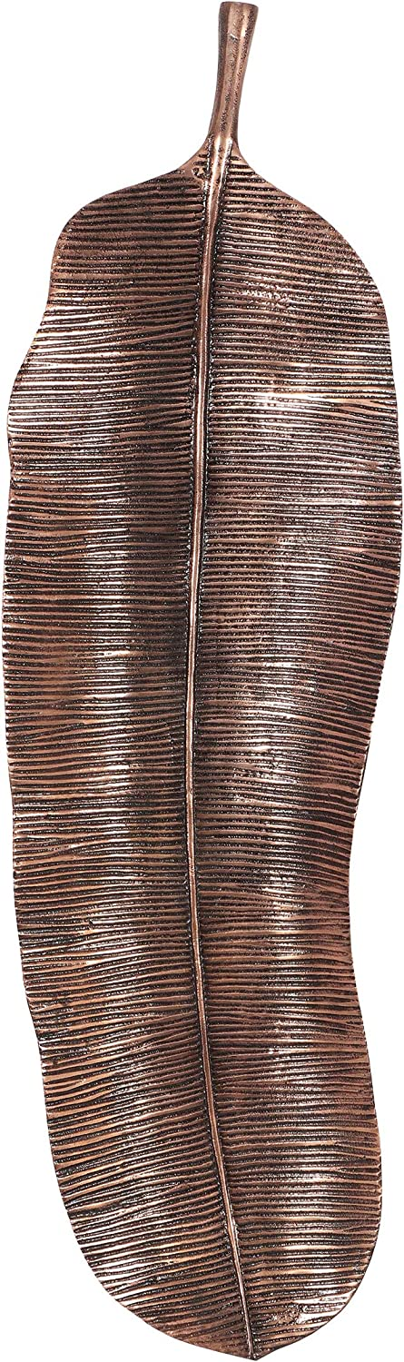 Christopher Knight Home Lyerly Large Leaf Wall Decor, Raw Copper