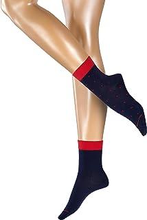 Esprit Socken Small Dots 2 Pack Baumwolle Damen schwarz weiß viele weitere Farben verstärkte Damensocken mit Muster atmungsaktiv gemustert bunt dünn und mit Punkten im Multipack 2 Paar