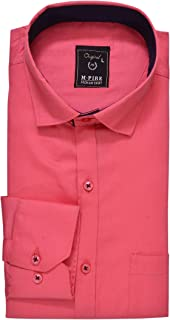 Mens Pink Formal Shirt (36)