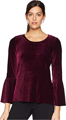 Bell Sleeve Crew Neck Top