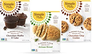 Sponsored Ad - Simple Mills, Baking Mix Variety Pack, Chocolate Muffin & Cake, Chocolate Chip Cookie, Artisan Bread Variet...