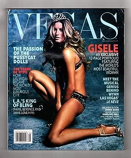 VEGAS Magazine - May, 2005. Gisele Bundchen cover and photo-shoot.