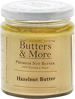Butters & More Vegan Natural Hazelnut Butter (200G) Unsweetened Single Ingredient Nut Butter. Keto & Diabetic Friendly.