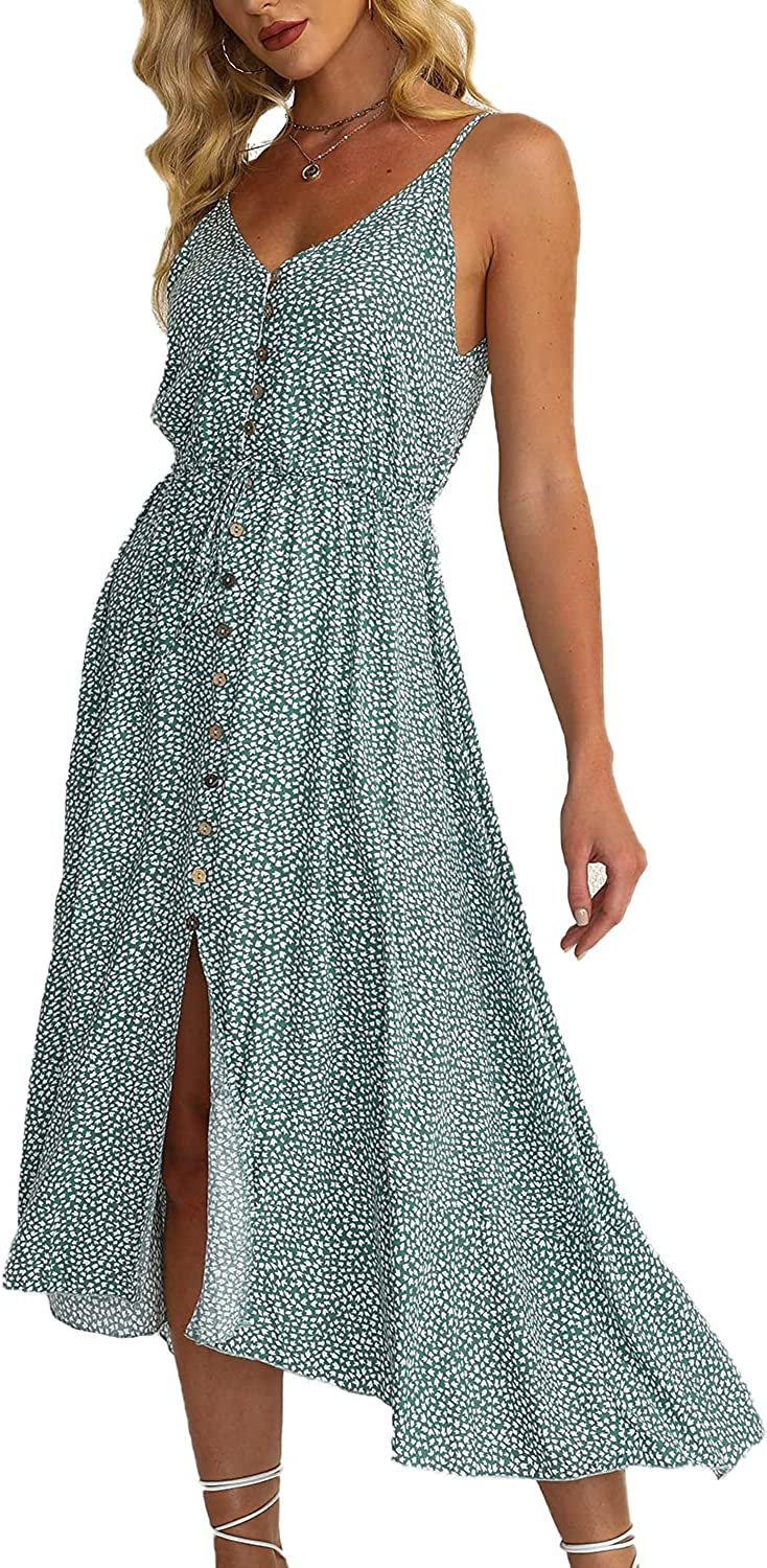 BROVAVE Women's Summer Casual Some reservation Boho Dot Spaghetti Sundress Polka New products world's highest quality popular