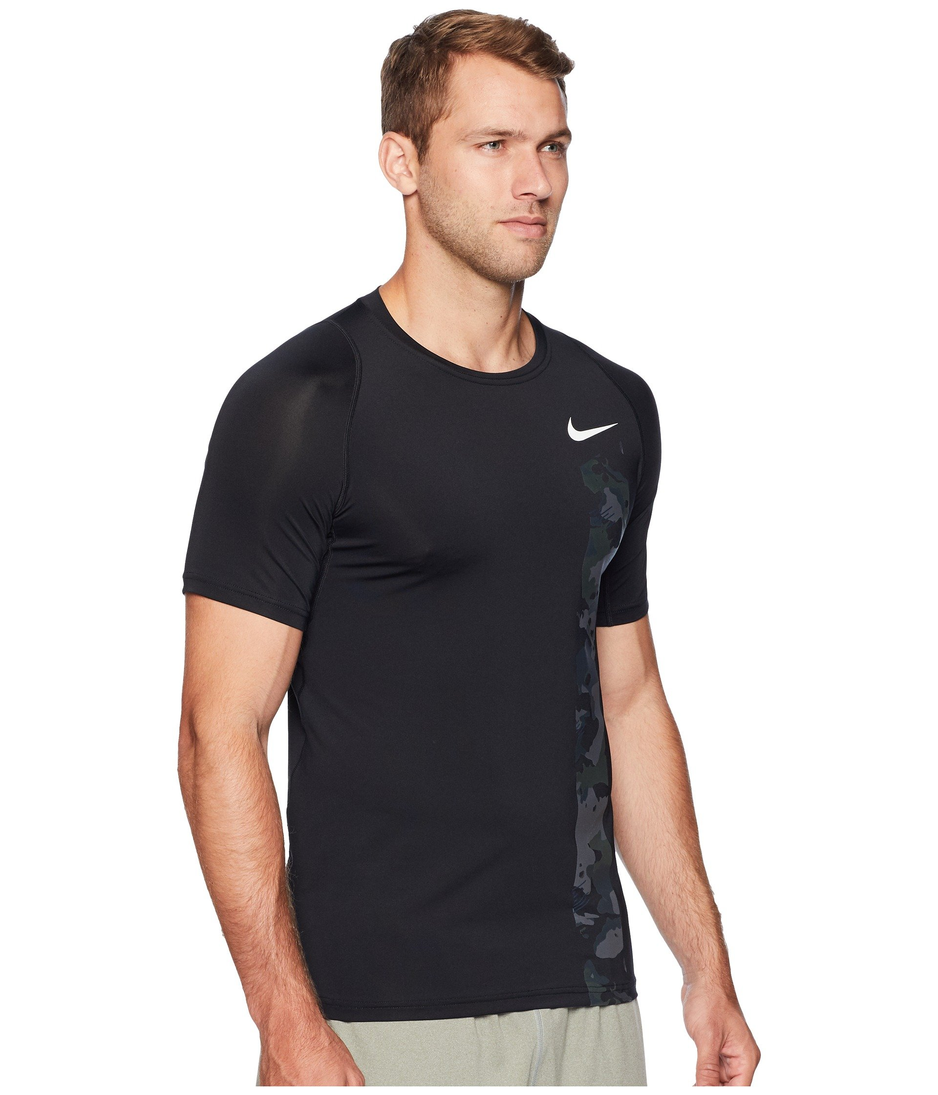 2l Sleeve white Camo Black Pro Nike Top Fitted Short w4xXxftq