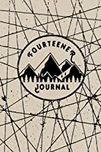 Fourteener Journal: Fourteener Log Book With Prompts To Write In, Hiking Journal, Backpacking Colorado, 14ers Book, Hiking Logbook, 6