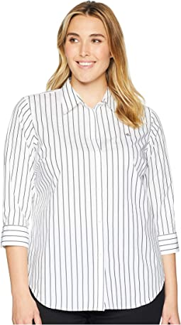 Plus Size No-Iron Button-Down Shirt