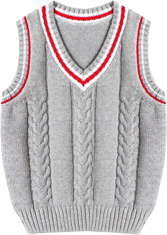 Alvivi Toddler Ultra-Cheap Deals Kids Boys Girls High order Vest Sleeveless Knit Pull Sweater