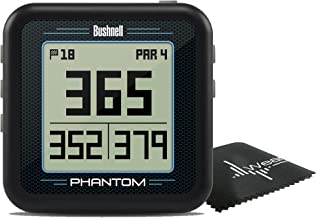 $129 » Bushnell Phantom Compact Handheld Golf GPS with Built-in Golf Cart Magnet and Wearable4U Cleaning Towel Bundle (Black)