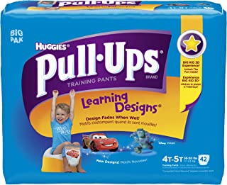 Huggies Pull-Ups Learning Design Training Pants, Size 4T-5T, Boy, 42 Count each, Pack of 4, 168 total pants