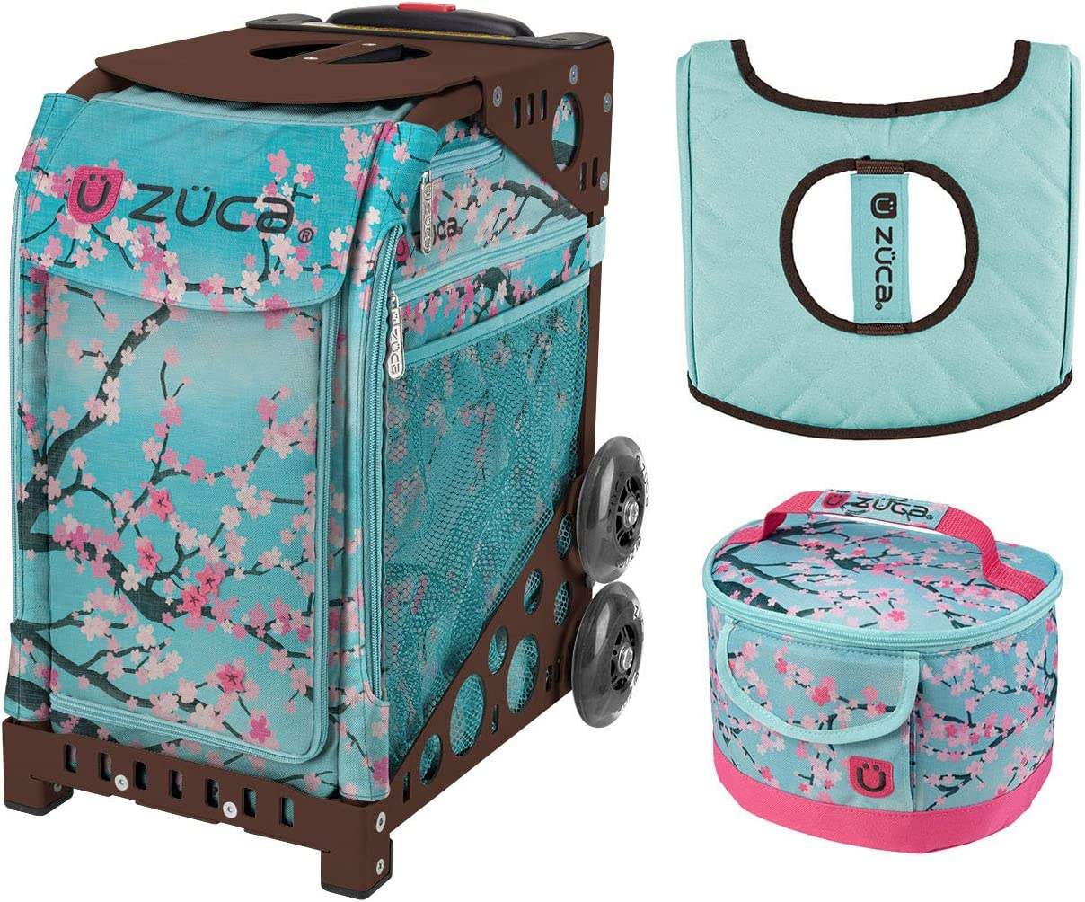 Hanami with Gift One Large and Two Mini Utility Pouches Zuca Sport Bag Turquoise Frame
