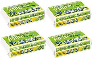 【まとめ買い】 スコッティ ペーパーふきん サッとサッと 400枚(200組) ×4個セット