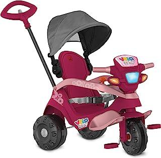 Triciclo Velobaby Reclinavel C/ Capota Passeio & Pedal (Pink), Bandeirante, Pink