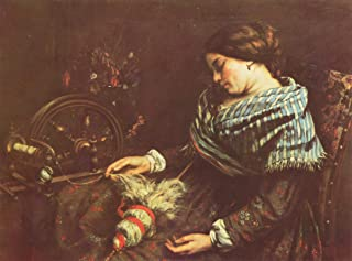 Home Comforts Courbet, Gustave - Sleeping Spinner Vivid Imagery Laminated Poster Print 11 x 17