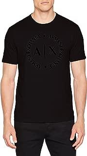 A|X Armani Exchange Men's Tonal Classic Circle Logo Short Sleeve Tee