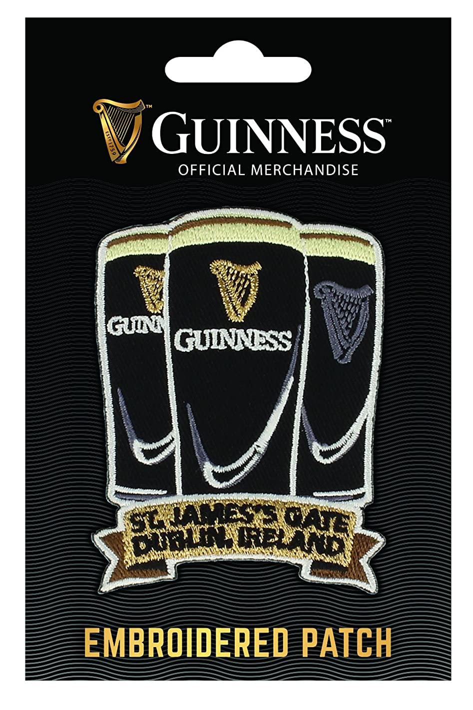 Guinness Embroidered Sew on Patch - 3 Pints