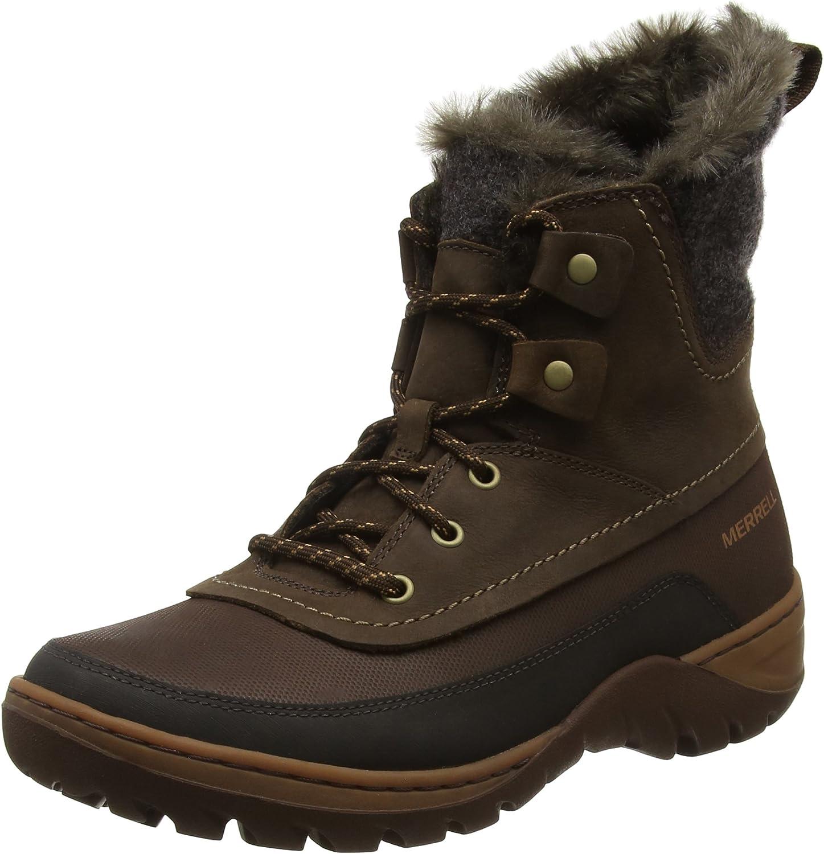 Merrell Womens Sylva MID LACE WTPF Potting Soil Ankle Boots