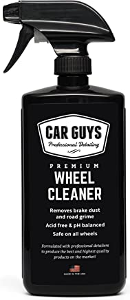 Wheel and Tire Cleaner  - Safe for all Wheels and Rims - Works on Alloy Chrome Aluminum Clear-Coated Painted Polished and Plasti-Dipped Rim - Wheel Cleaner by CarGuys