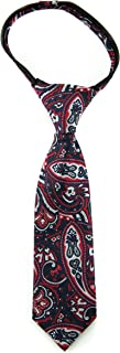Littlest Prince Couture Crimson & Black Paisley Infant Zipper Tie 9-24 Months