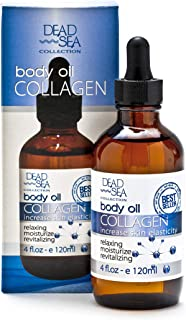 Body Oil Collagen, Dead Sea Collection   To Increase Skin Elasticity & Provide Anti-Aging Support for Face and Body