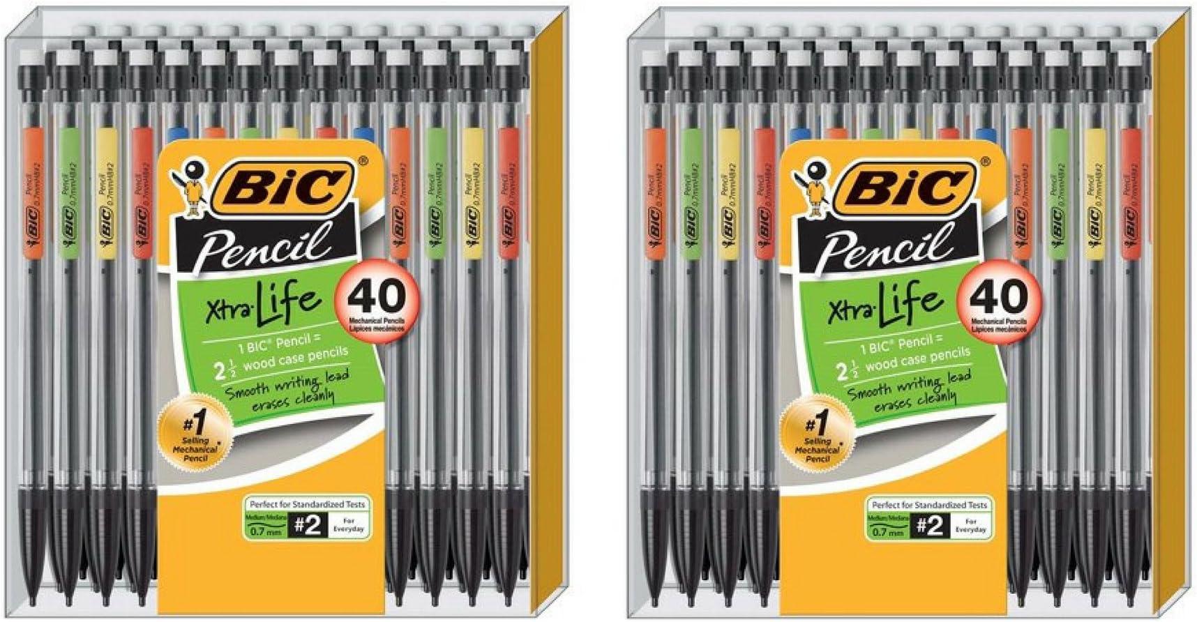 BIC Xtra Life Mechanical Pencil, Medium Point (0.7 mm), 40-Pack - 2 Box