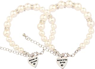 SEIRAA Mother in Law Pearl Bracelet Wedding Gift for Mother of The Bride/Groom