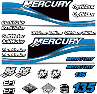 AMR Racing Outboard Engine Motor Sticker Decal Graphics kit for Mercury 135 - Blue