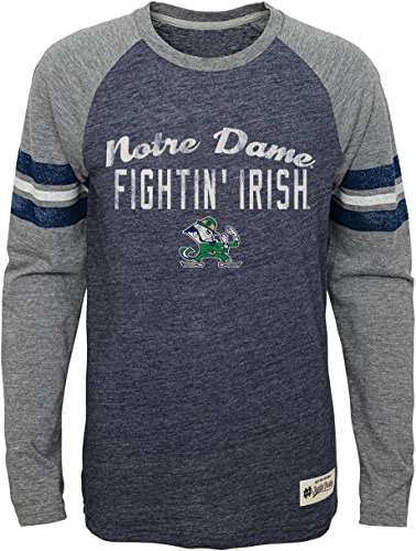 Adidas Notre Dame Fighting Irish Youth NCAA Football Pride T-Shirt à Manches Longues Bleu Marine,