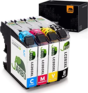 JARBO Compatible Ink Cartridges Replacement for Brother LC203 LC203XL, 1 Set, Used with Brother MFC J480DW J680DW J460DW J485DW J885DW J5520DW J4320DW J4420DW J5620 J5720DW Printer
