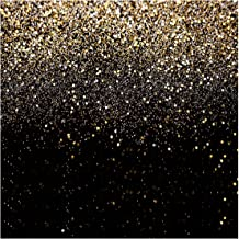 WOLADA 10X10ft Glitter Backdrop Gold Spots Bokeh Photo Backdrop Vinyl Photography Backdrop Vintage Abstract Family Wedding...