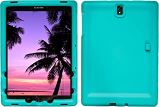 Bobj Rugged Case for Samsung Galaxy Tab S3 9.7, SM-T820, SM-T825, SM-T827, SM-T827V - BobjGear Custom Fit - Patented Venting - Sound Amplification - BobjBounces Kid Friendly (Terrific Turquoise)