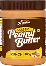 Alpino Classic Peanut Butter Crunch 400 G | Made with High Quality Roasted Peanuts | 100% Non-GMO | Gluten-Free | Vegan