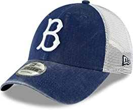 New Era Brooklyn Dodgers Royal 1947 Cooperstown Collection Trucker 9FORTY Adjustable Snapback Hat