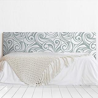 MEGADECOR Cabecero Cama PVC Decorativo Económico Impreso Diseño Olas Abstractas Varias Medidas (150 cm x 60 cm)