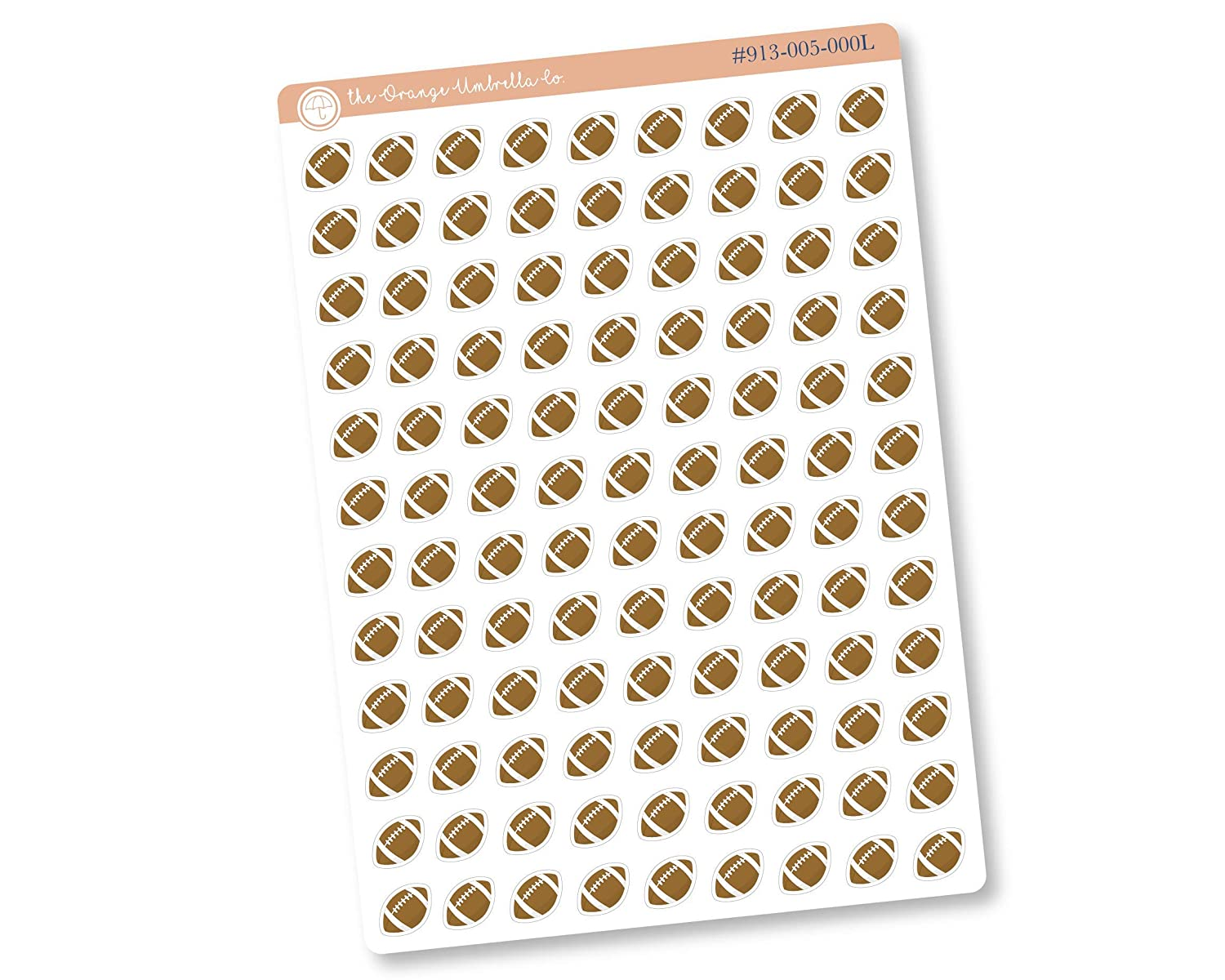 Football Icon Planner Stickers Practice OFFicial National products Sticke Tracking