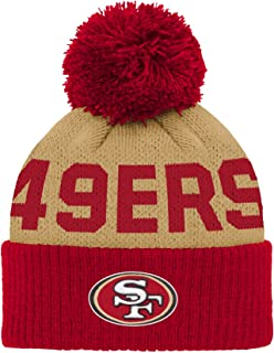 sports shoes be3c3 f9a6b Outerstuff NFL Unisex-Baby Jacquard Cuffed Knit Hat with Pom