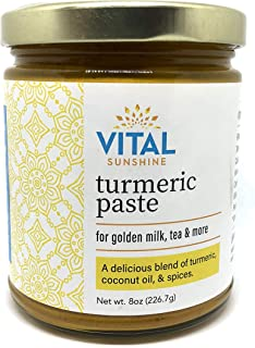 Turmeric Paste for Golden Milk, Turmeric Tea, Turmeric Lattes and Turmeric Milk | Made with Natural Organic Ingredients, Great Source of Curcumin | 8 oz. (42 Servings)