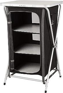 KitGarden - Armario Camping Plegable, 60x52x88 cm, Negro,