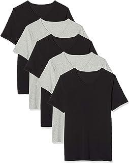 find. Belh004m5 Canotta Uomo, Multicolore (Black/Grey Melange B10), L, Pacco da 5