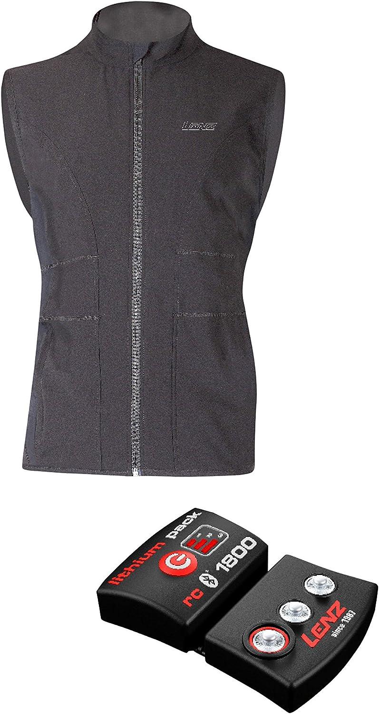 LENZ Set of Heat Vest 1.0 Women, Black and Lithium Pack RcB 1800, 1920