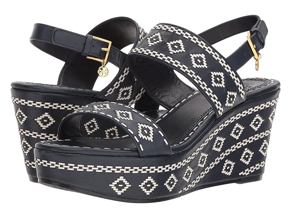 Tory Burch Blake 80mm Ankle-Strap (Perfect Navy) Women
