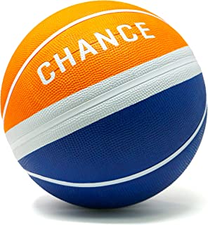 Chance Premium Rubber Outdoor/Indoor Basketball (Size 5 Kids & Youth, 6 WNBA Womens, 7 Mens NCAA & Official NBA Basketball) (Size 27.5, 28.5, 29.5)